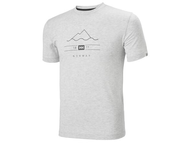 Helly Hansen Skog Graphic Camiseta Hombre, grey fog